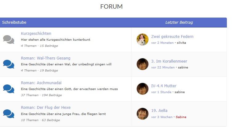 So oder ähnlich sieht das Forum aus.